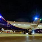 Sukhoi Superjet 100 полетел в Вильнюс